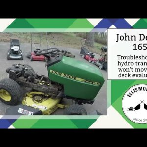 John Deere 165 hydro trans stuck disengaged analyze deck carb quick and dirty (Part 2)