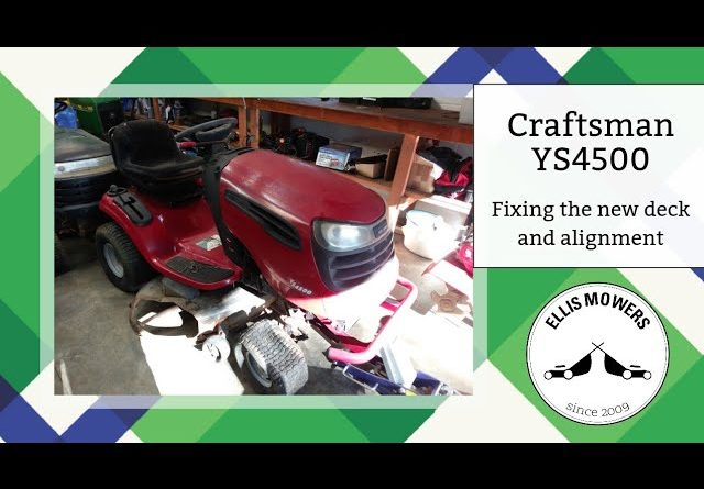 Craftsman YS4500 ATF in tires, new carb, deck fabrication, attempting to fix alignment (part 2)