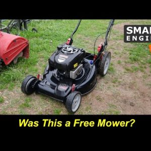 A Free Craftsman Mower Saved from the Trash Dump fixed for cheap
