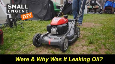 Almost New Honda Mower Was Leaking Oil