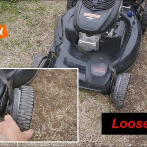 Craftsman Lawn Mower with a Loose Front Wheel