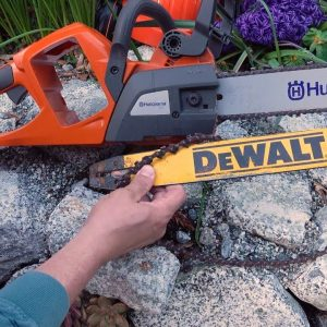 EV Chainsaw Battle! Husqvarna vs DeWalt!