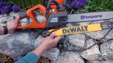 EV Chainsaw Battle! Husqvarna vs DeWalt!