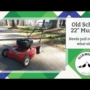 "Rough looking 22"" Murray push mower needs some pull rope work and that's it?"