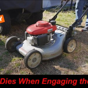 Honda Mower Dies When Engaging the Blades