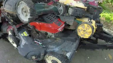I bought 35 push mowers for $350!  First look