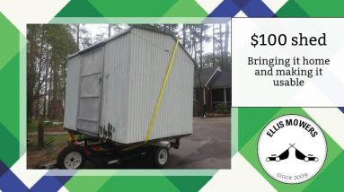 I bought a $100 shed.  Let's pick it up and make it usable!