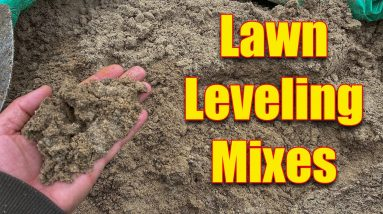 Lawn Leveling Mixes - What to Use When leveling