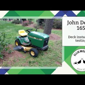 John Deere 165 deck belt and deck install, testing, working out the kinks (part 3)