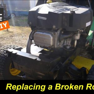 Riding Mower with a Broken Push Rod, Did it Fall into the Crankcase?