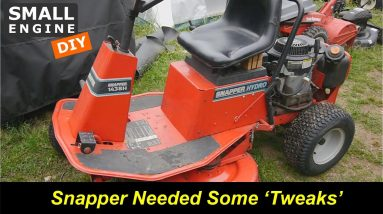 Snapper 1438S Rear Engine Riding Mower - Old but needed some Tweaks