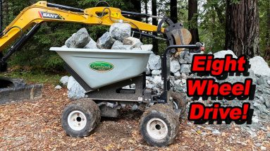 The Best Tool Ever! - Electric Wheelbarrow By Overland Carts