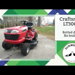 $100 Craftsman LT3000 with rotted deck and no brakes: Let's fix it!