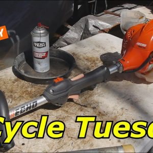 2 Cycle Tuesday, Echo SRM225 gas trimmer, and Taco Tuesday