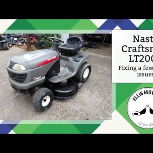 Nasty Craftsman LT2000 Rider has a bent deck and alignment issue: Let's fix it!