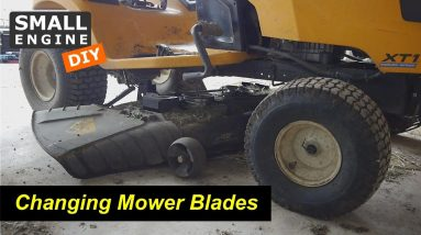 How to Change Mower Blades on a Cub Cadet XT1 Lawn Tractor