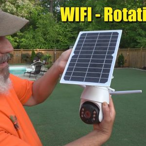 Outdoor Security Camera WIFI - Solar - Rotating