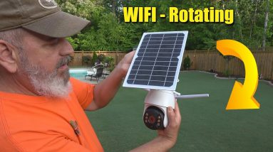 Outdoor Security Camera WIFI - Solar - Rotating
