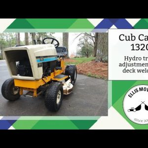 Cub Cadet 1320 Riding Mower runs, drives and cuts but needs deck welding and hydro trans adjustment