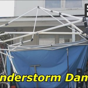 Thunderstorm Damage - Replacing the Canopy Tents...Again!