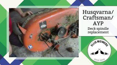 Replacing a Husqvarna/ Craftsman/ AYP riding mower deck spindle step by step