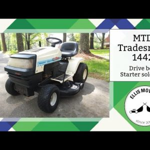 MTD LT1442 riding mower needs starter solenoid, stator wire replacement and hydro drive belt