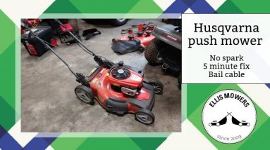 "Husqvarna push mower no start no spark: 5 minute cable ""fix"""
