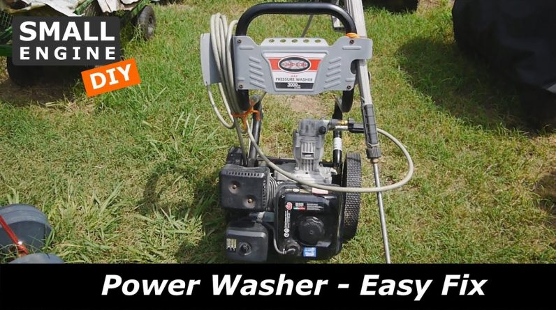 Easy Fix for a Power Washer that will not start - Wait and see what is coming next!
