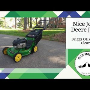 The nicest John Deere JA62 Briggs OHV gets a carb clean