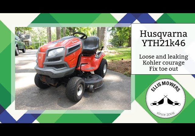 Husqvarna YTH21K46 has a Kohler Courage that is loose and leaking