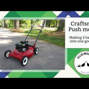 Making one push mower from a Weed Eater engine and Craftsman deck