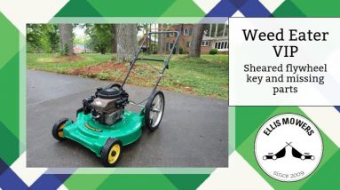 Weed Eater VIP push mower Briggs Quantum flywheel key replacement and adding missing parts