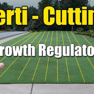 What is Verti Cutting Your Lawn - Growth Regulator Application