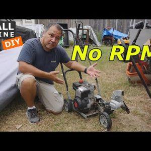 Craftsman Eager 1 Edger has no RPM