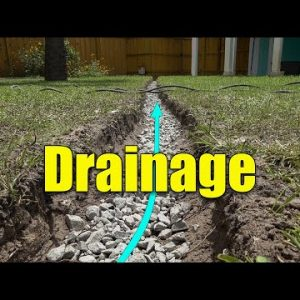 Lawn Drainage fixes - French Drains