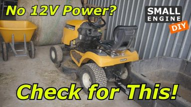Lawn Tractor with no 12V Power?  Check for This!