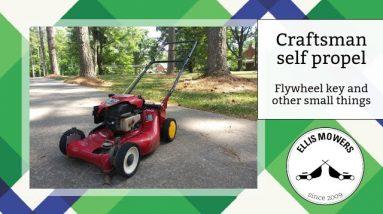 Craftsman self propel push mower needs flywheel key, carb, etc but still not 100%