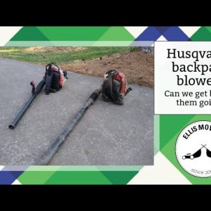 Pair of Husqvarna backpack blowers.  Let's see if we can fix both!