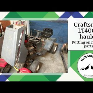 Craftsman LT4000 hauler tractor putting on missing engine parts to get it running