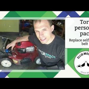 Toro personal pace self propel belt replacement start to finish