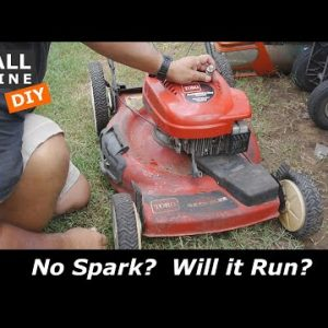 Toro Recycler Lawn Mower with a Tecumseh Engine has no Spark