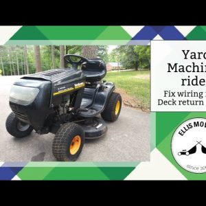 Yard Machines rider with spliced wiring and blades that won't turn off