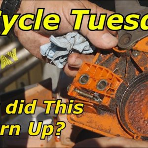 2 Cycle Tuesday Husqvarna 136 Chainsaw Cover Plate and Taco Tuesday