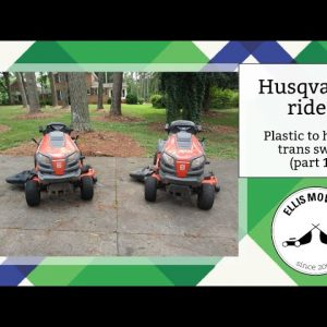 """Husqvarna rider plastic to hydro trans swap removal and install: Not """"plug and play"""" (part 1)"""