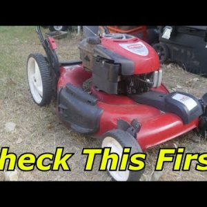 Free Craftsman Lawnmower would not start, carburetor problems?