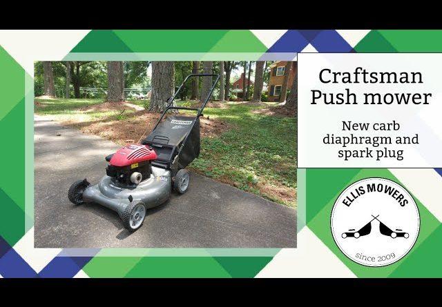 Craftsman push mower Briggs Classic replace carb diaphragm and spark plug