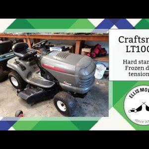 Craftsman LT1000 riding mower hard starting & stuck deck engagement: Diagnosing and fixing (Part 1)