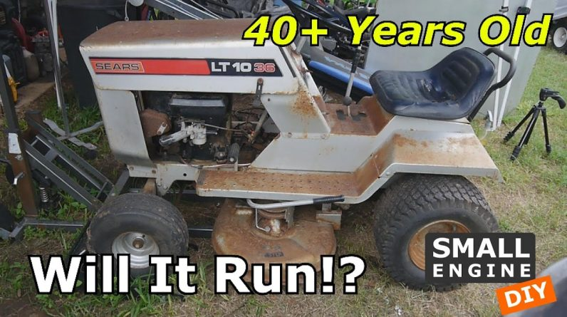 Sears LT1036 Restoration Part 1 Will It Run?