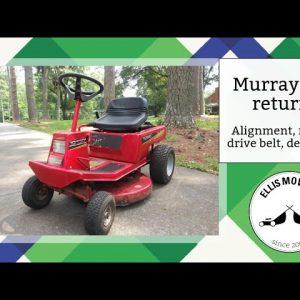 Murray RER returns beat up: steering alignment, new blade, new drive belt, blade brake adjust