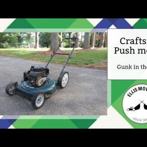 Craftsman push mower needs a carb clean and toggle switch